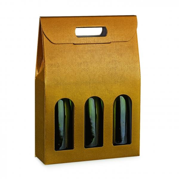 Flaschenverpackung, Präsentkarton für 3 Flaschen (Art.Nr. 38433)