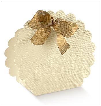 Schachtel Tasche Wolke - Borsa Rotonda - Dekor Seta Avorio