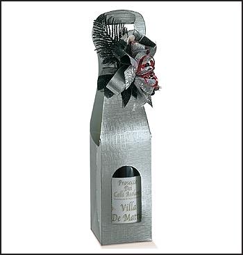 Flaschenkarton - Dekor Seta Argento