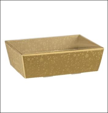 Presentkorb VASSOIO CONICO - Dekor Sfere Oro