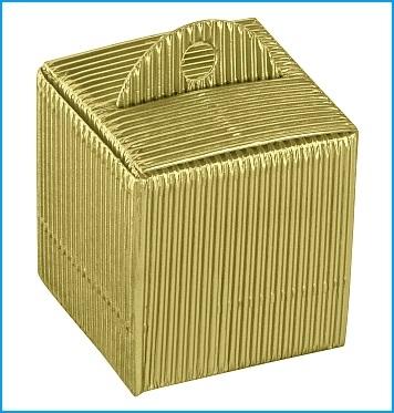 Schachtel - Cubetto - Dekor Onda Oro