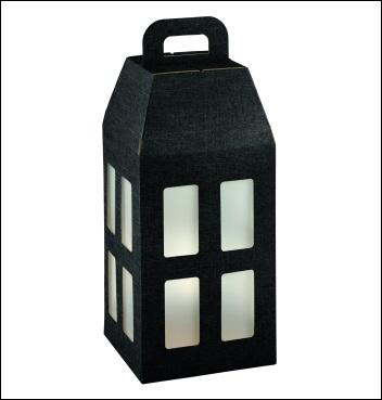 Schachtel - Lanterna - Dekor Seta Nero
