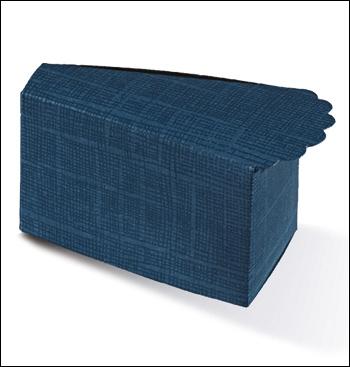Schachtel Törtchen - Fetta Torta - Dekor Juta Blu