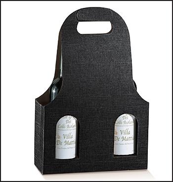 Flaschenkarton - Dekor Seta Nero