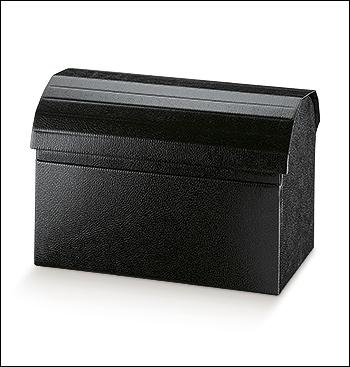 Schachtel Truhe - Cofanetto - Dekor Pelle Nero