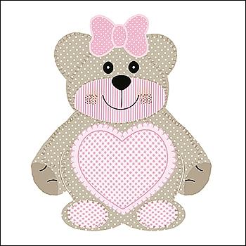 Bär - Sagoma Orsetto - Dekor Teddy Bear Rosa